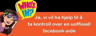 82774ccd Ja, vi vil ha hjelp til å ta kontroll over en uoffisiell facebook-side