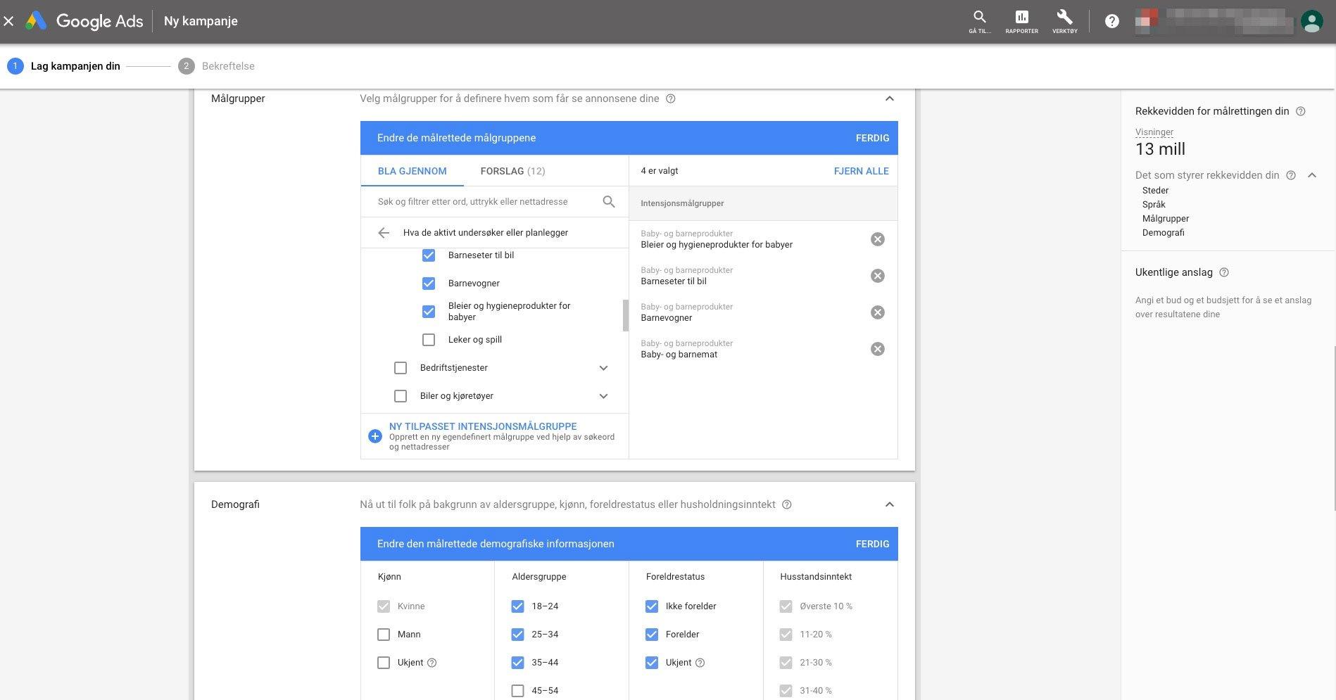 Google Ads interesse