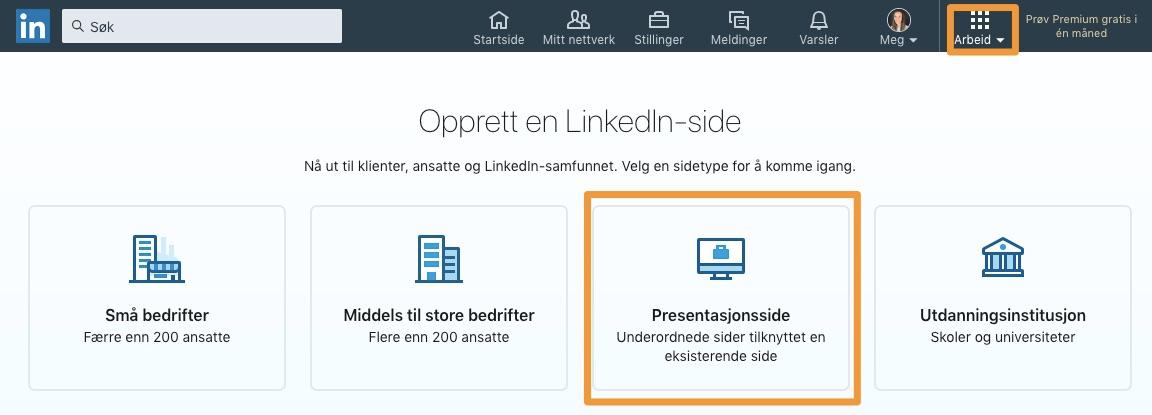 Hvordan lage en Presentasjonsside på LinkedIn